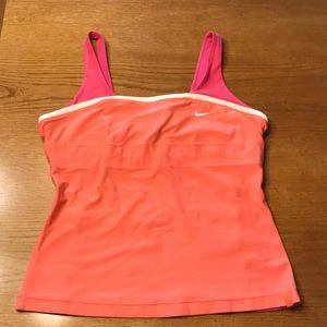 Nike pink/coral tennis M tank